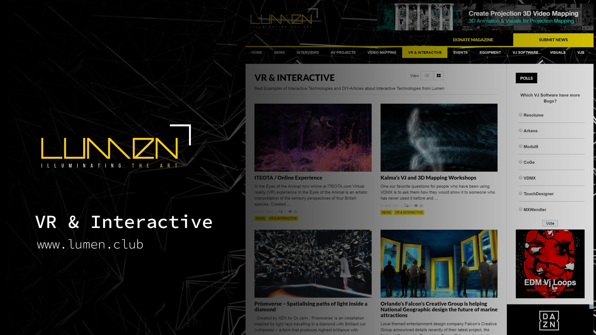 Interactive Magazine - LUMEN MAGAZINE ✅