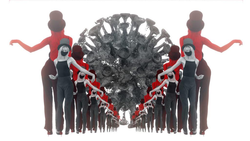 Covid-19-Dancing-Marching-Giri-in-mask-corona-virus-4k-video-footage-vjloop for halloween