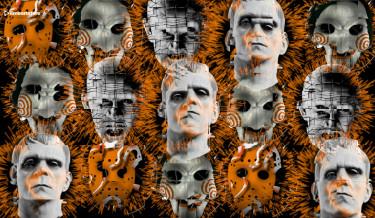 Halloween visuals video vj loops 2ret