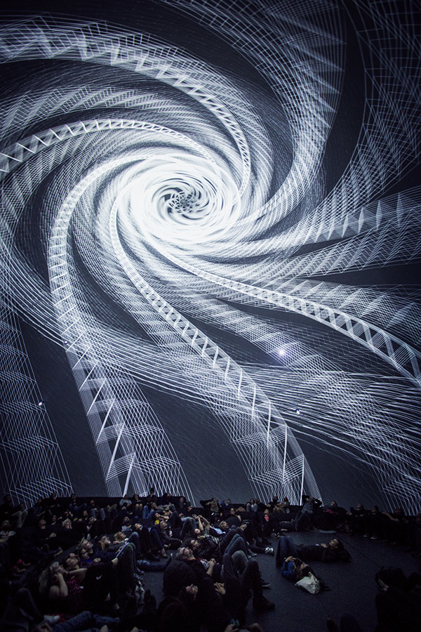 full dome video mapping by Selay Karasu